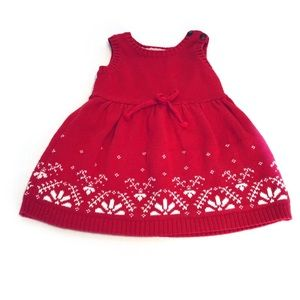 Carter's Red with White Cotton Knit Jumper 6 Mo